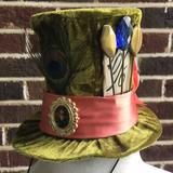 Disney Accessories   Disneys Mad Hatter Mini Top Hat Nwt   Color: Green   Size: Os