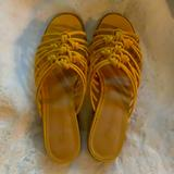 Madewell Shoes | Cute Mustard Yellow Madewell Mules | Color: Yellow | Size: 8