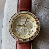 Michael Kors Accessories   Michael Kors Parker Chronograph Watch   Color: Brown/Gold   Size: Os
