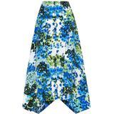 Naya Printed Silk Crepe De Chine Midi Skirt - Blue - Stella McCartney Skirts