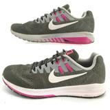 Nike Shoes | Nike Womens 10.5 Zoom Structure 20 Lace Up Running | Color: Gray | Size: 10.5