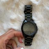 Michael Kors Accessories   Michael Kors Blacked Out Watch   Color: Black   Size: Os