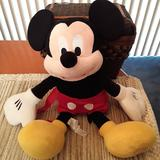 Disney Toys | Mickey Mouse Plush Backpack Bag | Color: Black/Red | Size: Osbb