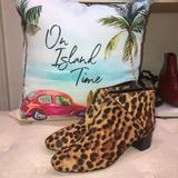 Nine West Shoes | Nine West Nwob! Nwanura5 Leopard Print Ankle Boot | Color: Black/Brown | Size: 8