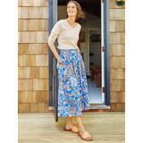 J.McLaughlin Women's Bronte Skirt in Neo Fowlerton Blue, Size 10