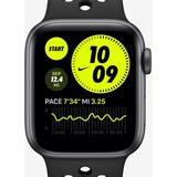 Apple Watch Series 6 With Sport Band 44mm Space Gray Aluminum Case - Black - Nike Watches