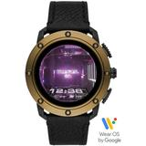 Touchscreen Connected Smartwatch With Leather Strap Dzt2016 - Black - DIESEL Watches