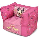 Disney Minnie Mouse Toddler Small Classic Bean Bag Scratch/Tear Resistant/Microfiber/Microsuede in Pink, Size 14.5 H x 18.0 W x 20.0 D in | Wayfair