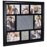 Malden Int Designs 8-Opening Letterboard Collage Photo Wall Frame Plastic in Black, Size 17.0 H x 1.4 D in | Wayfair 9187-08