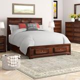 Winston Porter Beagan Solid Wood Platform 5 Piece Bedroom Set Wood in Brown/Red, Size King | Wayfair 2F4F8CDC3D1D448499116292355199D0