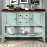 """Winston Porter46""""L X 15""""W X 34""""H Winston Porter 46""""L X 15""""W X 34""""H Buffet Sideboard Console Table w/ Bottom Shelf, Storage Drawers(Espresso) Wood"""