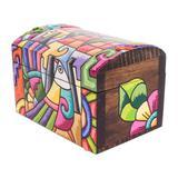Wood decorative box, 'Beauties from La Palma'