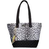 Quilted Nylon Tote - Black - Betsey Johnson Totes
