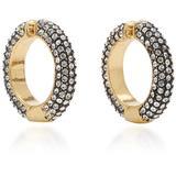 Lili Hematite, Crystal 12k Gold-plated Ear Cuffs - Gray - DEMARSON Earrings