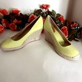 J. Crew Shoes | Espadrille Wedges, Wedge Sandals, Wedges, J. Crew | Color: Green | Size: 8.5