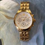 Michael Kors Accessories   Michael Kors Ladies Gold Chronograph Watch   Color: Gold   Size: 7.75 In.