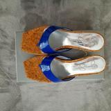 Jessica Simpson Shoes | Jessica Simpson Wedge Flip Flop Sandals | Color: Blue | Size: 6.5