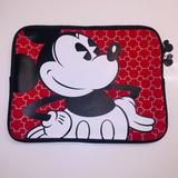 Disney Office | Mickey Mouse All Over Print Laptop And Tablet Bag | Color: Black/Red | Size: Os