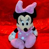 Disney Toys   Cute Little Minnie Mouse Stuffed Plush 12-In   Color: Pink/White   Size: 12 In
