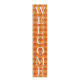 Orange Check Welcome Sign - Grandin Road