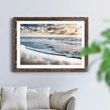 Highland Dunes Endless Horizon - Picture Frame Graphic Art Metal in Black/Brown/Green, Size 23.0 H x 32.0 W x 1.0 D in | Wayfair