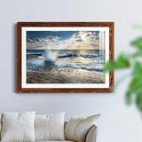 Highland Dunes Caribbean Sundown - Picture Frame Photograph Metal in Black/Brown/Green, Size 23.0 H x 32.0 W x 1.0 D in | Wayfair
