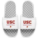 """""""Men's ISlide White USC Trojans Basketball Wordmark Slide Sandals"""""""