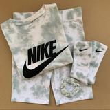 Nike Tops | Custom Nike Small Shirt Shorts Socks | Color: Green/White | Size: S