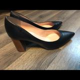 Kate Spade Shoes | Kate Spade Black And Wood Heels - Chunky Heels | Color: Black | Size: 9