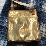Michael Kors Bags   Michael Kors Jet Set Large Crossbody   Color: Gold/Tan   Size: Measurements In Listing