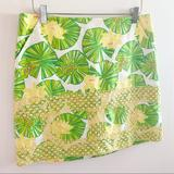 Lilly Pulitzer Skirts   Lilly Pulitzer *Rare* Hip Hop Lily Pad Skirt 8   Color: Green/Yellow   Size: 8