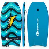 """Costway 37"""" Lightweight Bodyboard with Wrist Leash for Kids and Adults-M"""