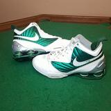 Nike Shoes | Nike Shox Basketball Sz 8 Womens Used Whitegreen | Color: Green/White | Size: 8