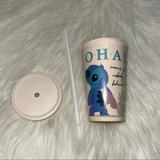 Disney Dining | Disney Stitch Ohana 20oz Bamboo Tumbler | Color: Cream | Size: 20oz