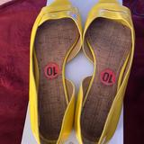Nine West Shoes   Nine West Summer Yellow Open Toe Flats   Color: Yellow   Size: 10