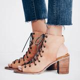 Free People Shoes | Jeffrey Campbell X Free People Sandal | Color: Cream/Tan | Size: 6