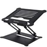 Fuleadture Adjustable Laptop Stand, Aluminum Laptop Riser For Desk in Black, Size 9.44 H x 8.26 W x 6.3 D in | Wayfair J-HO-AI-002-Z19-02#SZM626