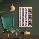 East Urban Home Haida Motifs in Vertical Borders w/ Abstract Tribal Animal - Picture Frame Graphic Art Print on Fabric in Brown   Wayfair
