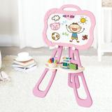 LINMOUA Art Easel For Kids, Triangular Support Double Sided Magnetic Drawing Board(blue) Metal/Whiteboard in Green, Size 15.2 H x 24.0 W x 34.2 D in