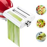 Jovan Home Pasta Maker Attachment Stainless Steel in Gray/White, Size 2.5 H x 6.9 W x 2.5 D in   Wayfair A02-3