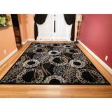 Bungalow Rose Luxury Modern Rugs For Living Dining Room Black Cream Beige Rug Large 8X11 Contemporary Rugs 8X10 Area Rugs Clearance Wool   Wayfair