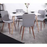 Corrigan Studio® Side Chair/Dinning Chair (Set Of Four) Wood/Upholstered/Fabric in Gray/Brown, Size 34.3 H x 17.1 W x 18.1 D in   Wayfair