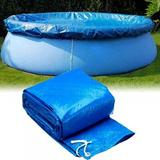 Zerofeel Dust-proof Pool Cover Protector Solar Cover Compatible w/ Intex Pools & Round Above Ground Swimming Pools in Blue   Wayfair