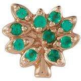 'family Tree' Rhinestone 18k Rose Gold Charm - Green - Loquet London Necklaces