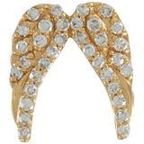 Angel Wings Diamond 18k Yellow Gold Charm - Metallic - Loquet London Necklaces