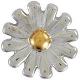 'daisy' 18k White Gold Enamel Detail Charm - Metallic - Loquet London Necklaces