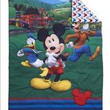 Disney Bedding | Disney Mickey'S Big Adventure 4pc Toddler Bed Set | Color: Blue/Green | Size: Toddler Bed Set 4 Piece