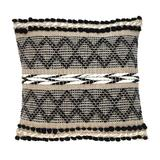 Foundry Select And Sand Woven Decorative Pillow Polyester/Polyfill/Cotton in Black, Size 17.72 H x 17.72 W x 4.0 D in   Wayfair