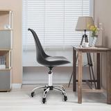 Latitude Run® Adjustable Height Armless Office Chair Aluminum/Upholstered in Black, Size 40.4 H x 21.2 W x 21.2 D in | Wayfair