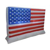 The Holiday Aisle® 6 Foot Long Patriotic Independence Day 4Th Of July Inflatable American USA Flag LED Lighted Blowup Party Decoration Polyester